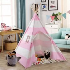 Portable Playhouse Sleeping Dome Indian Teepee Tent Children Play House Pink