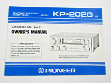 Pioneer KP-202G Owners Manual Component Car Stereo Cassette Deck - Original