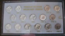 SET OF MERCURY SILVER DIMES 1941-1945 (15 COINS).. CH/GEM BU
