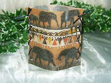 1 Deko Windlicht Afrika Elefanten Tischlicht Geschenkidee Mitbringsel