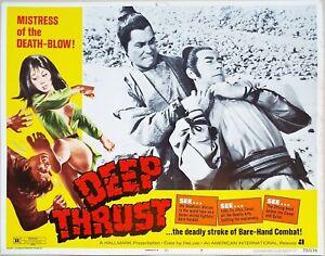 Deep Thrust 1973 Mistress of the death-blow Original US Lobby Card