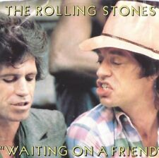 THE ROLLING STONES Waiting on a Friend 45 RECORD with PS PIC SLEEVE