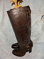 ESPIRIT WOMEN BROWN LEATHER PULL ON KNEE HIGH BOOT SIZE UK 4 EU 37 US  VGC