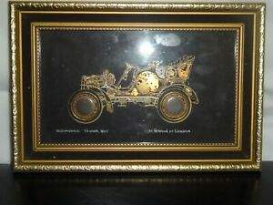 oldmobile tourer 1905 art framed by ammon of london signed
