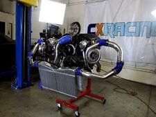 CXRacing Intercooler Piping BOV Kit for 86-92 Supra MK3 LS1 Swap Twin Turbo Blue