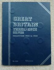 More details for 42  silver threepences in a date run - 1902-1944 (no 1927) in a  whitman folder