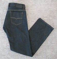 MINT DIESEL VIKER MENS 36X35 DARK WASH DENIM STRAIGHT LEG BUTTON FLY BLUE JEANS