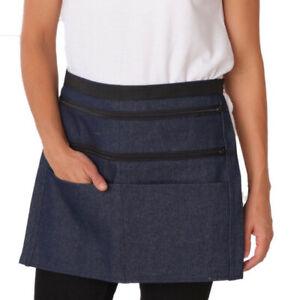 Dennys Denim Heavy Money Pocket Apron Cafe Bistro Bib Gastro Waitress (DW45)