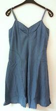 Damenkleider mit V-Ausschnitt aus Baumwollmischung Größe 42