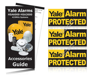 Yale Alarm Window Warning Stickers PACK OF 3 OFFICIAL ALARM STICKERS / RRP £4.99