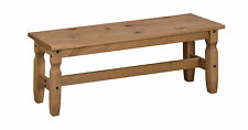 "Corona 4'0"" Dining Bench Mexican Solid Pine Long Seat by Mercers Furniture®"