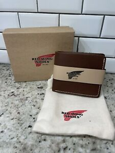 New! Red Wing Shoes Classic Bi-fold Leather Wallet. Amber Frontier. Made In USA