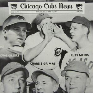 Vintage Chicago Cubs Baseball News Wrigley Field WWII GI Rookies Roster 1946