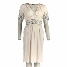 TEMPERLEY Dress Off White Jewelled Detail With Silk Slip Size UK 8 RW 530