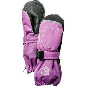 """?TODDLER/SMALL KIDS HESTRA BABY """"ZIP LONG"""" MITTENS (CERISE/PINK) BABY1 AGES 1-2"""
