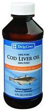 De La Cruz® Pure Icelandic Cod Liver Oil 4 oz.   /  bottled in USA