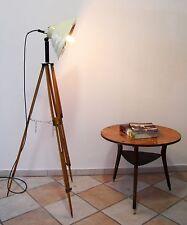 Tripod Steh Lampe Arzt Strahler Holz Stativ Retro Vintage Bauhaus Loft Industrie