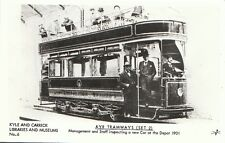 Transport Postcard - Ayr Tramways - Management and Staff - At The Depot  2597