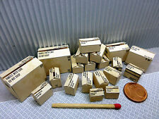 """20 cajas de """"sin logotipos"""" en 1:24-1:25 para diorama, tren de ranura, enormemente, taller"""