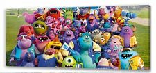 "Monsters University Canvas 22""x10""  Framed Picture"