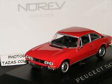 PEUGEOT 504 COUPE ROUGE 1969 DE NOREV SCALE 1/43 Ref 475416