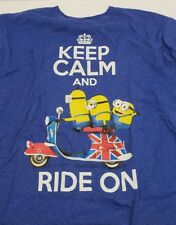 Minions Keep Calm And Ride On British English Bike Youth Shirt Despicable Me