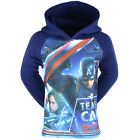 PULL / SWEAT SHIRT ENFANT MARVEL AVENGERS CAPTAIN AMERICA BLEU