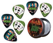 Green Day Set of 6 Loose Guitar Picks in Tin