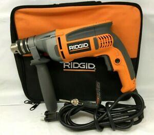 RIDGID R71111 HeavyDuty 8Amp 1/2in Variable Speed Drill w/Case, LN