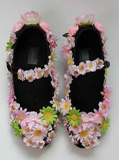 FLOWER FAIRY PINK festival SHOES FLATS GOTHIC LOLITA  KAWAII PASTEL GOTH 39 6