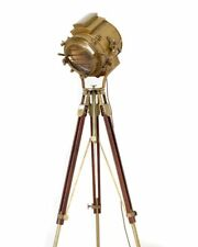 Spot Light Antique Brass Floor Lamp With Brown Tripod Free Shipping