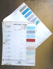 1960 Edsel Color Chips Cards by  Dupont Automotive Paints & Finishes Vintage '60