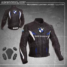 Hombres BMW Motocicleta Moto jinete Racing de cuero Chaqueta LLJ-173 (EE. UU. 42 - 48)