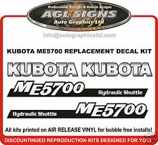 KUBOTA  ME5700 TRACTOR DECAL SET , reproductions ME 5700