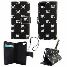 Schutz Hülle für Apple iPhone 5 5s SE Totenkopf Case Cover Tasche Book Style