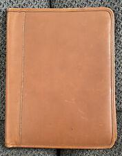 Coach Brown Leather Executive Portfolio Classic Bi Fold Folder 10 X 125 Euc
