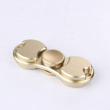 Mini Finger Spinners Alliage Spinner deux feuilles Bangers Key-ring fob Gold ref02
