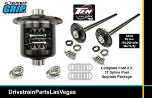 Ford Mustang 31 Spline Axle Upgrade Posi Pkg Powertrax Grip LS Ten Factory 94 98