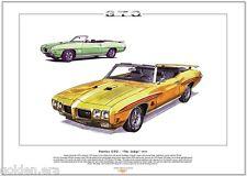 PONTIAC GTO JUDGE 70 Stampa Artistica A3 misura American lusso muscle car