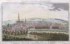1779 Good size antique print; View of Salisbury in Wiltshire