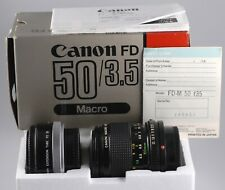 CANON FD 50MM/F3.5 MACRO W/EXT. RING #148421. WITH PAPERS. LNIB!!! LOOK!!!