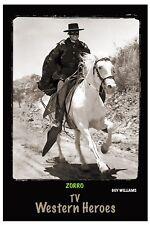 """4""""x6"""" MAGNET PRINT - """"ZORRO"""" TV Western Heroes"""" Guy Williams"""