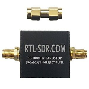 Broadcast FM Band Stop Filter (88 - 108 MHz FM Trap) by RTL-SDR Blog