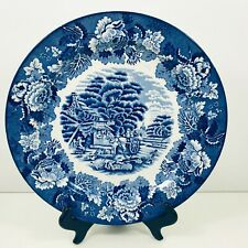 COLLECTABLE WOODS WARE PLATE ENOCH WOODS ENGLISH SCENE BLUE AND WHITE