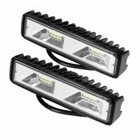 """2x 6"""" 16 LED 48W Zusatzscheinwerfer Arbeitsscheinwerfer Bar Auto SUV KFZ Offroad"""