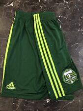 Portland Timbers Adidas MLS Match Game Soccer Shorts Medium Withe Vintage Futbol