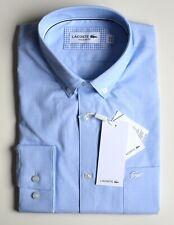 LACOSTE Herren Hemd Regular Fit Langarm hellblau Größe 40 41