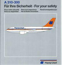 Safety Card - Hapag-Lloyd - A310 300  (S4064)