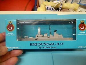 HMS Duncan D37 type 45 destroyer from Triang Minic ships, in special box