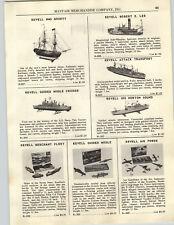 1956 PAPER AD Revell Model Ships Boats Robert E Lee HMS Bounty USS Norton Sound
